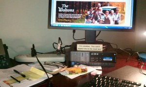 My desk at work.